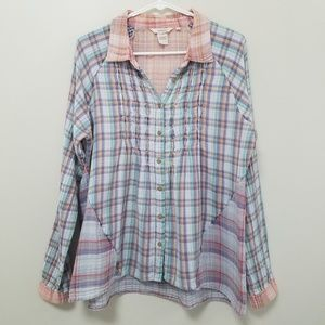 Sundance | RARE Multi-Color Plaid Tunic Top L